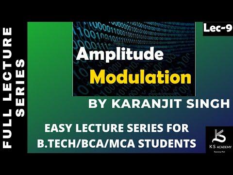 AMPLITUDE MODULATION||COMMUNICATION SYSTEM||BTECH||PART8
