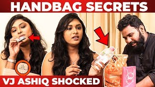 Mini BEAUTY PARLOUR – Actress Akshatha Handbag Secrets Revealed | What's Inside the Handbag?