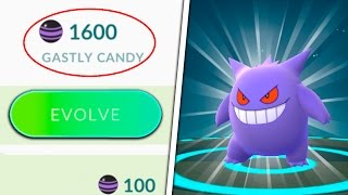 WHAT WILL HAPPEN? 1,600 GASTLY CANDY TO GENGAR IN POKEMON GO! THE ULTRA GENGAR EVOLUTION!