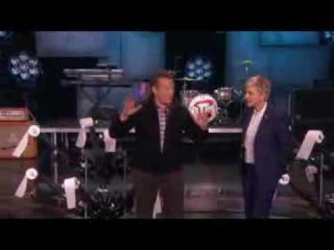 Steve Spangler Toilet-Papers Ellen's Studio on Ellen Show