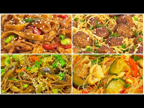 4 азиатских блюда с лапшой. Минимум времени, максимум удовольствия! Рецепты от Всегда Вкусно!