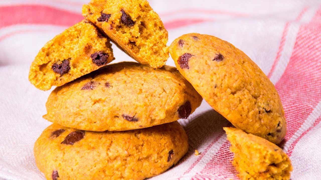 Chocolate-Chip Kürbiskekse 🍪😋 Natürlich Vegan und einfach gemacht! 💚