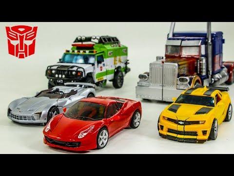 Transformers 3 DOTM Autobots Bumblebee Dino Sideswipe Optimus Prime Ratchet Vehicles Car Robots Toys