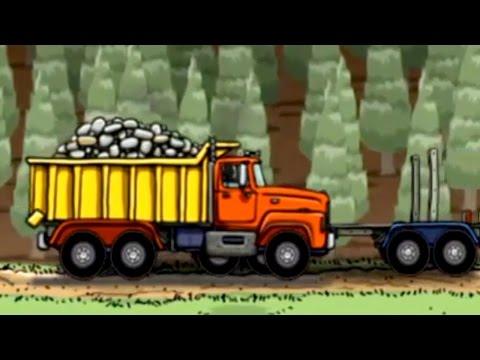 [ ใหม่ ] เกมส์รถดั้ม รถบรรทุกไม้ รถขนส่ง รถตัดไม้ การ์ตูนเด็ก Game iPhone LOG TRUCK