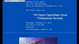 BDPA Detroit October 2014 Info Exchange Meeting - HP Helion OpenStack Cloud Professional Services