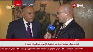 سامح شكري - وزير الخارجية المصري لـ ONLIVE: لقائي المرتقب مع لافروف سيبحث العلاقات الثنائية