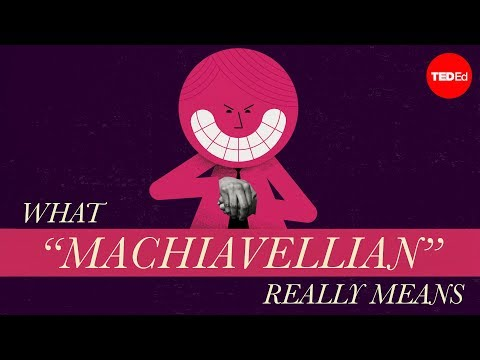 "Video image: What ""Machiavellian"" really means - Pazit Cahlon and Alex Gendler"