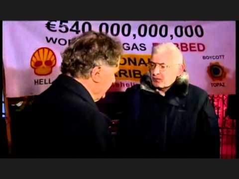 Budget Day Protest - Interview with Vincent Browne (07-12-10)