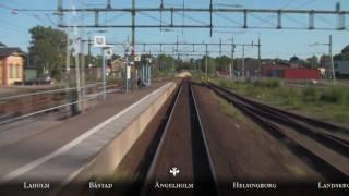 Train Driver's View: Halmstad C - Malmö C in 10 minutes