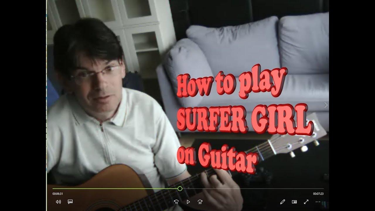 Surfer girl chords