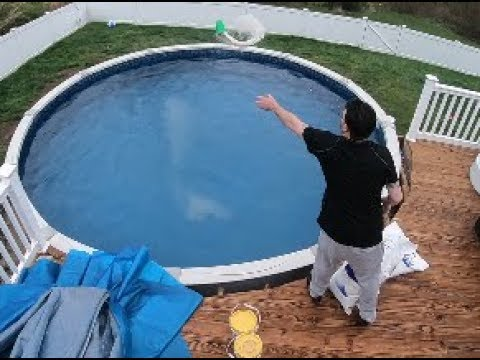 How to Open Above Ground Pool: Salt Water Pool