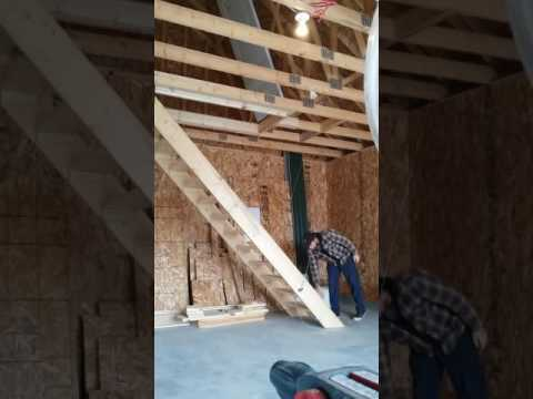escalier escamotable garage attic stair - YouTube