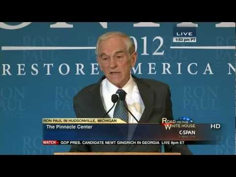 Ron Paul speech and press conference in Hudsonville, Michigan CSPAN 2/26/12