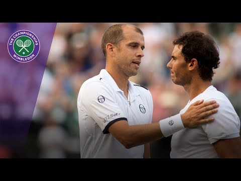 Gilles Muller shocks Rafael Nadal at Wimbledon 2017