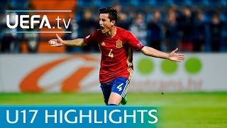 Spain v Germany - Under 17 highlights - Watch penalty drama