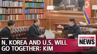 Kim Jong-un receives letter from Trump, says N. Korea and U.S. will go together