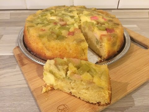 gâteau-pomme-rhubarbe-façon-tatin