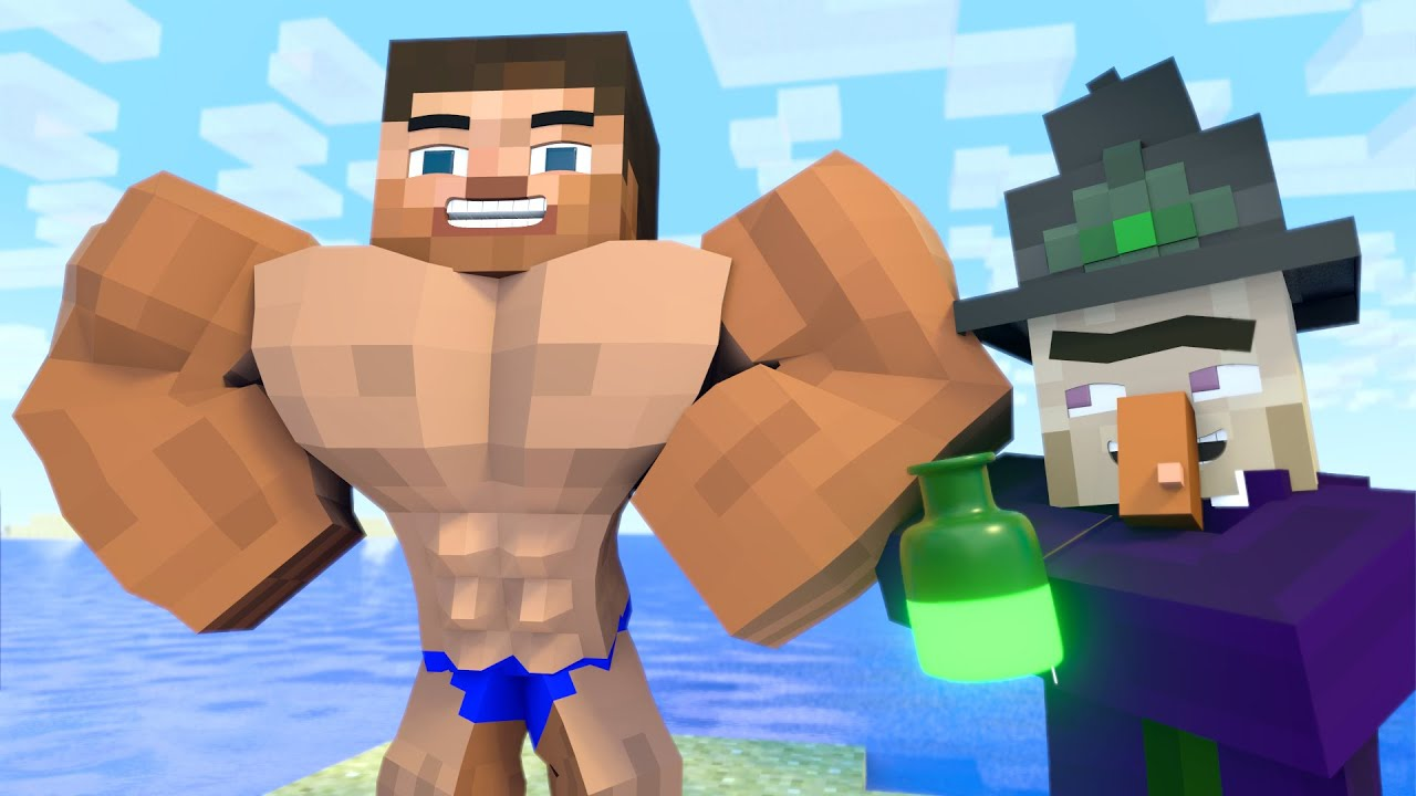 The minecraft life of Alex and Steve : Power Potion - Minecraft animation