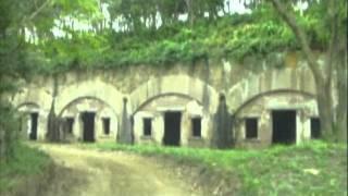 対馬の緒方地区の姫神山に残された日露戦争時代の砲台「姫神砲台跡」 「...