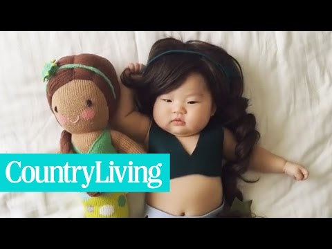 This Mom Dresses Her Napping Baby in Costumes | Country Living