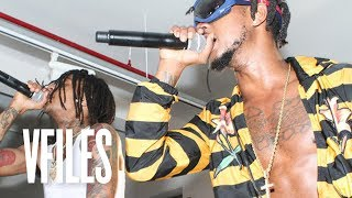 Rae Sremmurd Play Look Alive Remix (ft. Migos) Live at VFILES