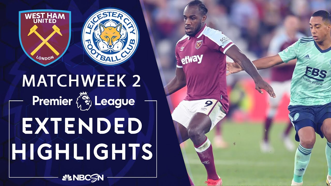 Download West Ham v. Leicester City | PREMIER LEAGUE HIGHLIGHTS | 8/23/2021 | NBC Sports