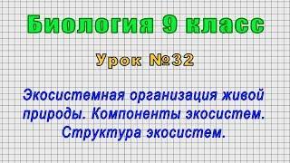 Биология 9 класс (Урок№32 - Экосистемная организация живой природы. Компоненты экосистем.)