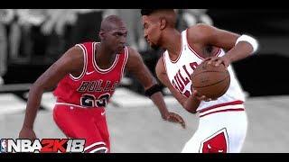 【最強対決】マイケルジョーダン5人 VS ピッペン5人、どっちが強い?【NBA2k18】 スコッティジェームス 検索動画 25