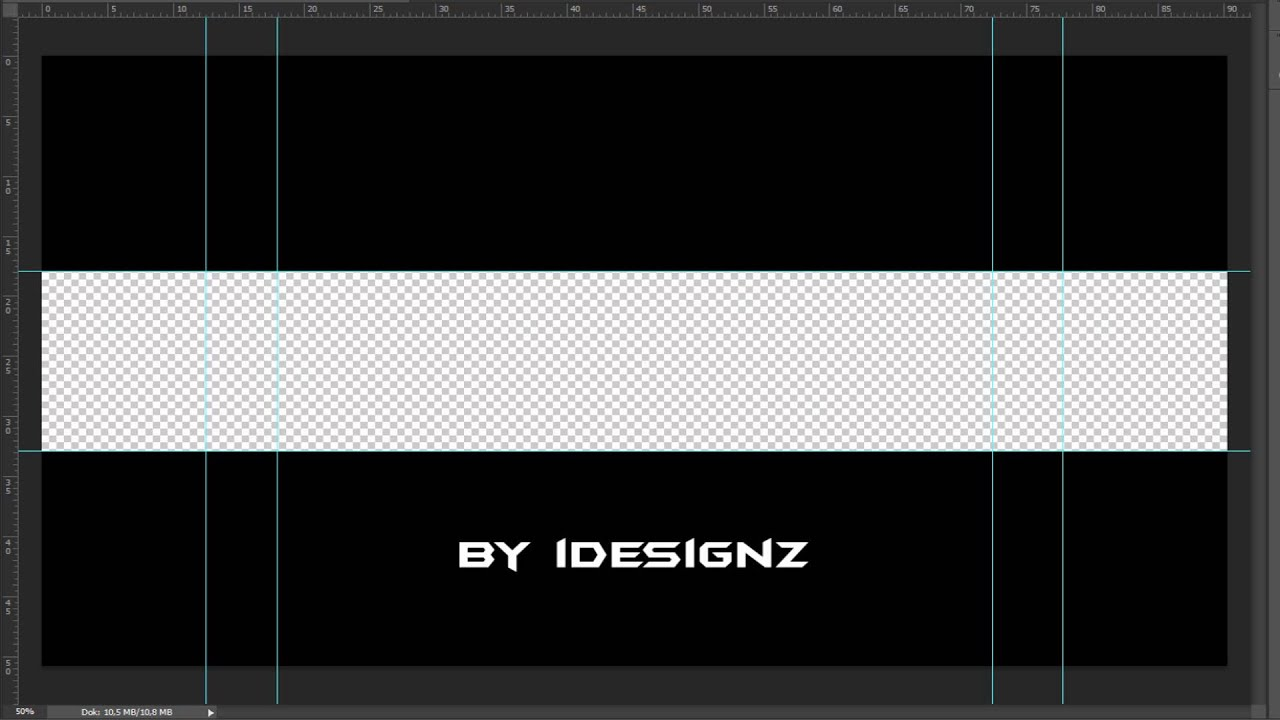 Photoshop - YouTube Banner Vorlage [Download] - YouTube