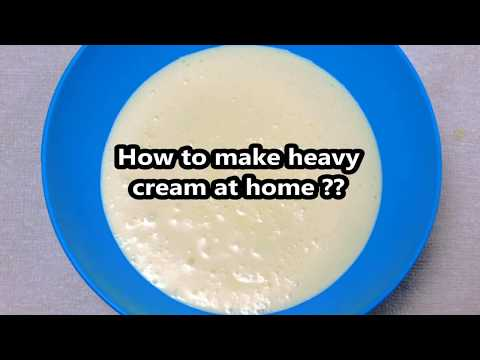 How to make heavy whipping cream thicken