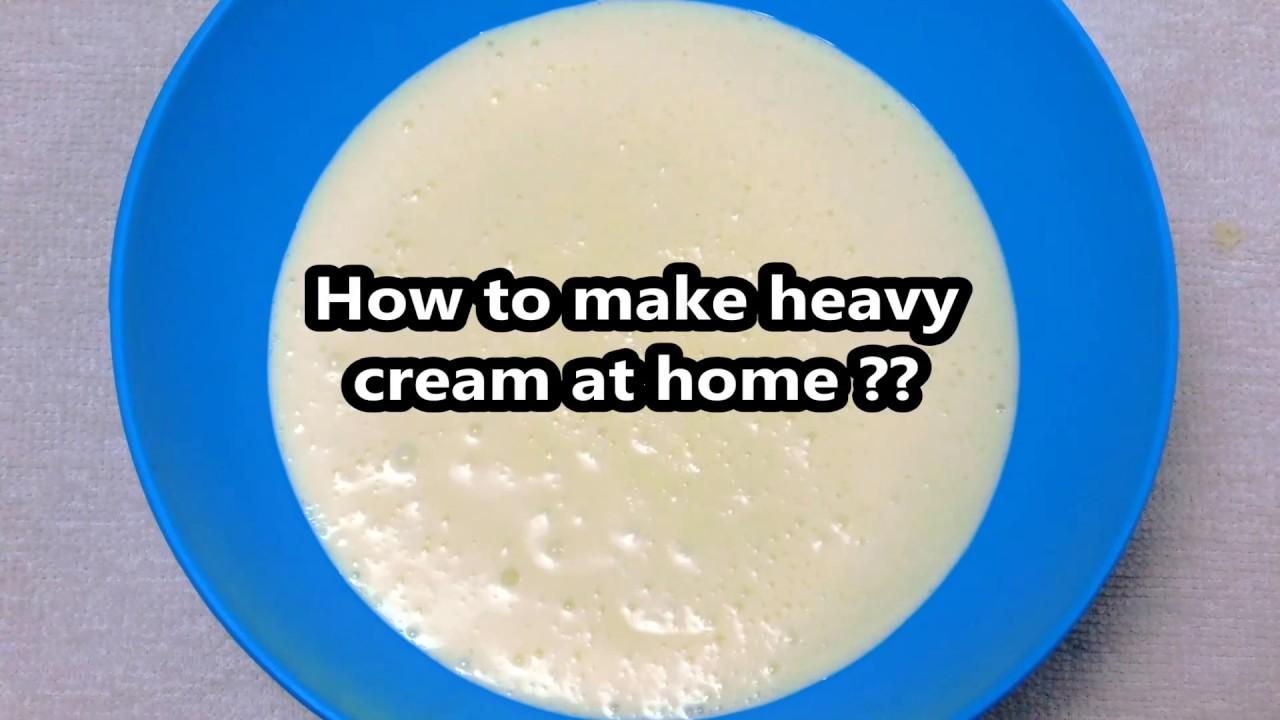 Heavy Cream Recipe How To Make Heavy Cream At Home From Milk Youtube