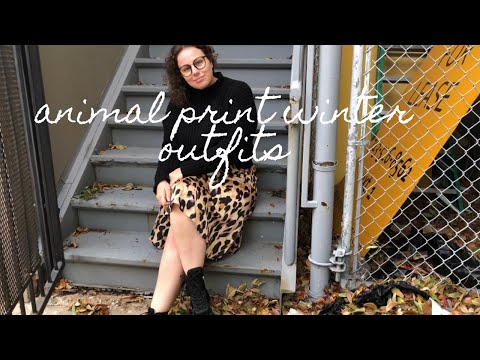 [VIDEO] - Curvy Girl Winter Outfits   Wearing Animal Prints For A Week 1