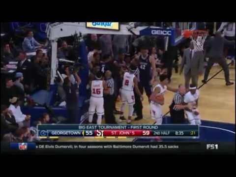 Georgetown v.s St. Johns Basketball Fight!!! HD