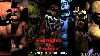 Five nights at Freddy's timelaps 4th anniversary poster [SFM]