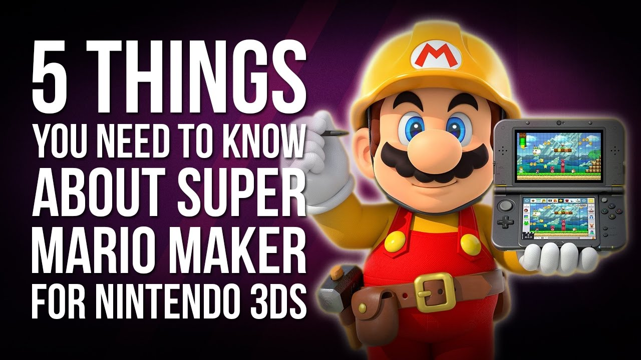 1ce2693631 5 Things You Need to Know About Super Mario Maker 3DS - YouTube