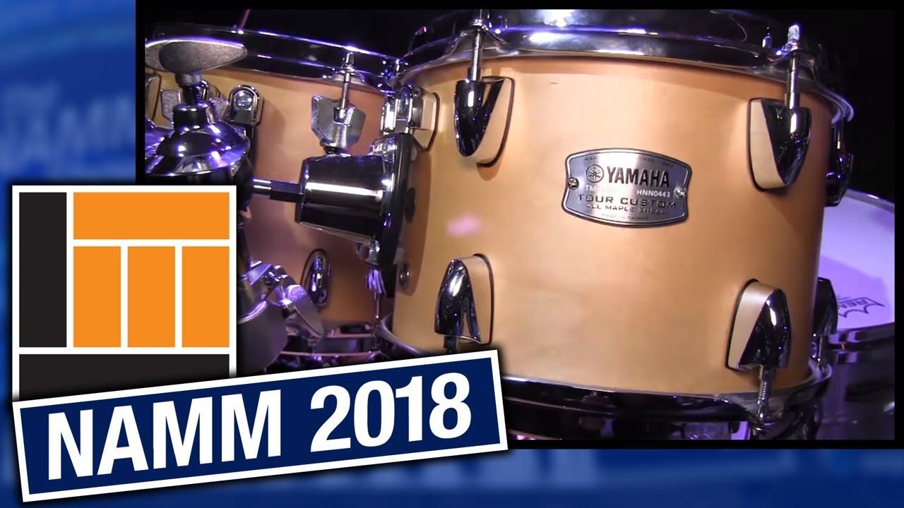 l m namm 2018 yamaha tour custom drums youtube. Black Bedroom Furniture Sets. Home Design Ideas