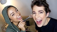 GIRLFRIEND DOES MY MAKEUP!!