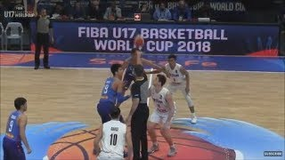 Battle for 13th place in the FIBA U17 Basketball World Cup between ...