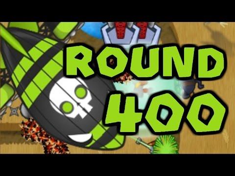 Beating a Round 400 ZOMG! Bloons TD Battles (BTD Battles)