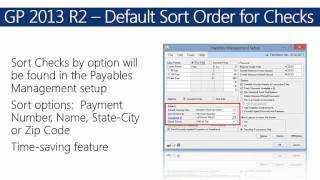 Microsoft Dynamics GP 2013 R2 Features and Functions