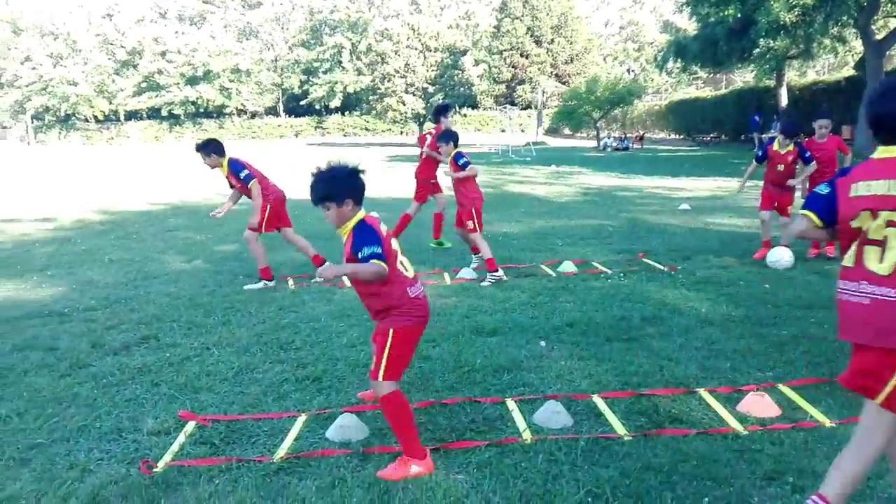 Ejercicios En Circuito Y Coordinacion : Fútbol para niños calentamiento de coordinación youtube