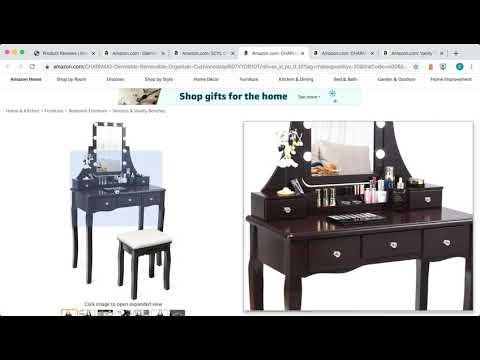 Amazon Product Reviews - Makeup Vanity Sets