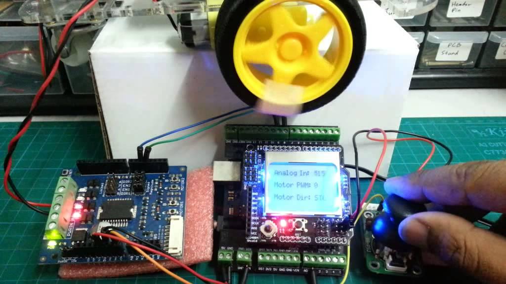 Joystick control DC motor with Arduino code