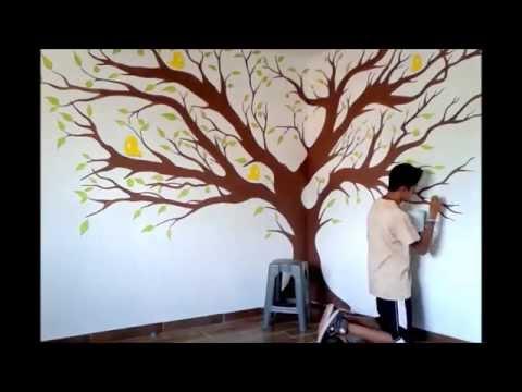 Como Pintar Un Arbol Drawing A Tree