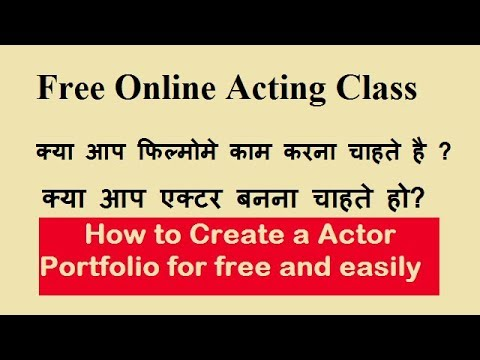 how to Create film Portfolio free and show talent, acting talented Actor and actress (actor profile)