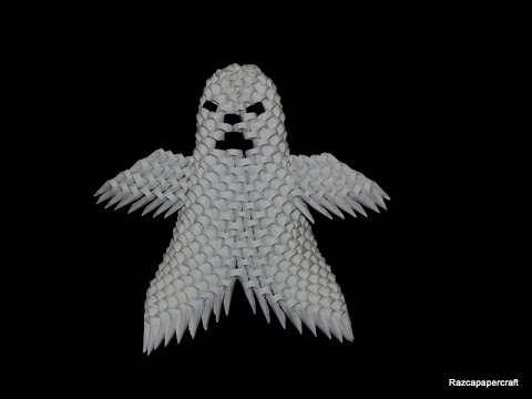 3D Origami Small Ghost Tutorial