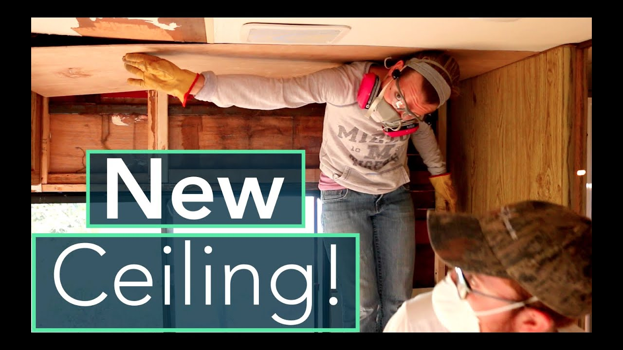 Rv Water Damage Repair Installing Ceiling Insulation