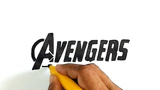 How to Draw The Avengers Logo