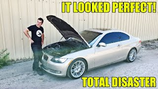 You Won't Buy Auction Cars Sight Unseen After This Video. Twin Turbo BMW Fail! (Fixed It Though)