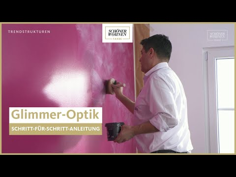 Schoner Wohnen Trendstruktur Glimmer Optik Funkelnde Highlights Youtube